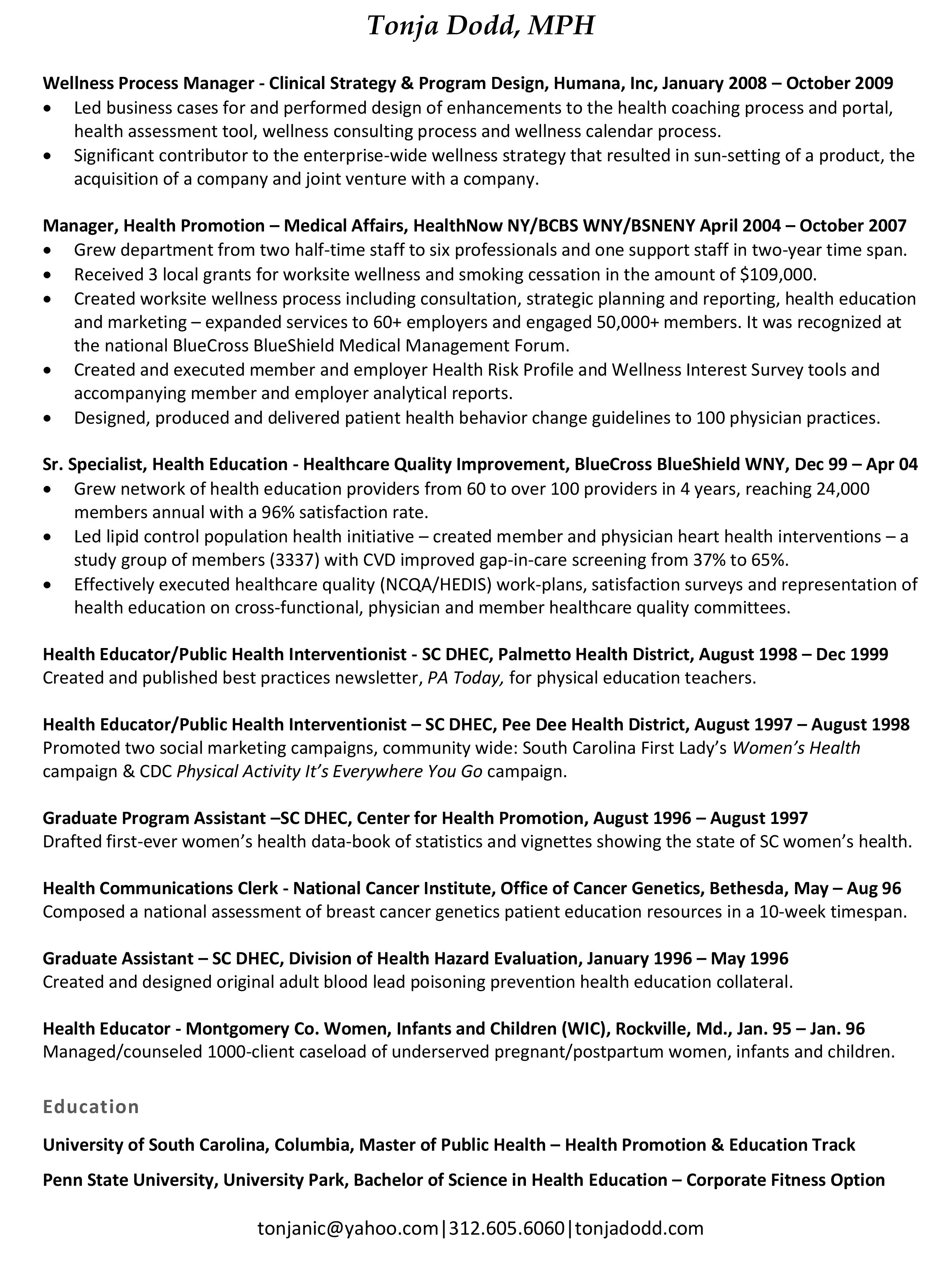 Outstanding Mph Resume Pictures - Best Student Resume Examples and ...